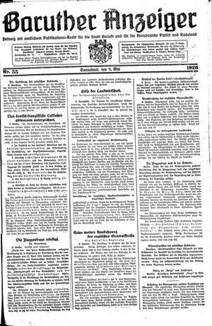 Baruther Anzeiger vom 08.05.1926