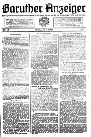 Baruther Anzeiger vom 08.02.1927