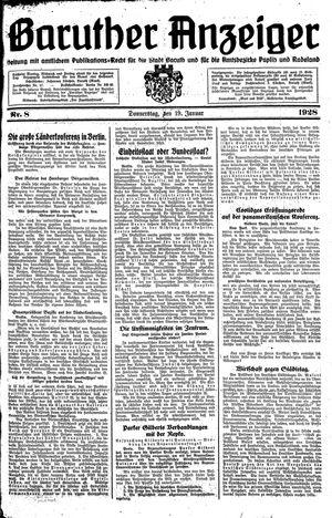Baruther Anzeiger vom 19.01.1928
