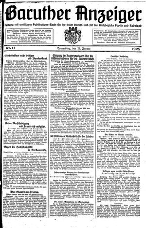 Baruther Anzeiger vom 26.01.1928