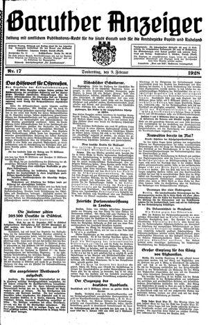Baruther Anzeiger vom 09.02.1928