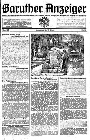 Baruther Anzeiger vom 03.03.1928