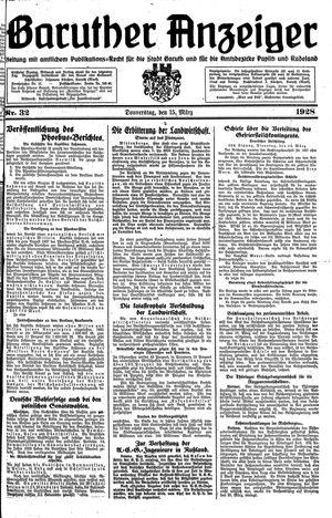 Baruther Anzeiger vom 15.03.1928