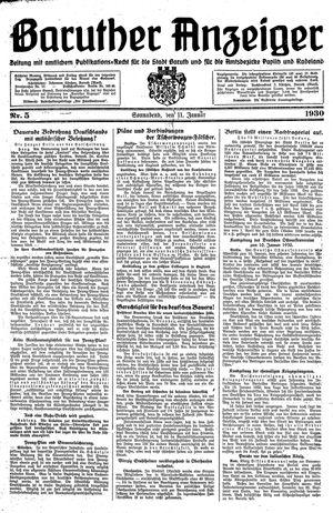Baruther Anzeiger vom 11.01.1930