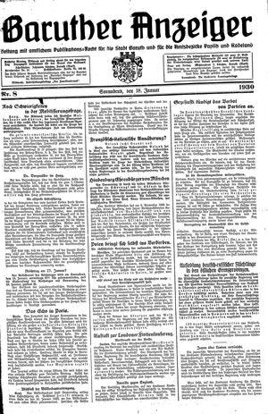 Baruther Anzeiger vom 18.01.1930