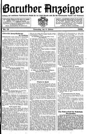 Baruther Anzeiger vom 13.02.1930