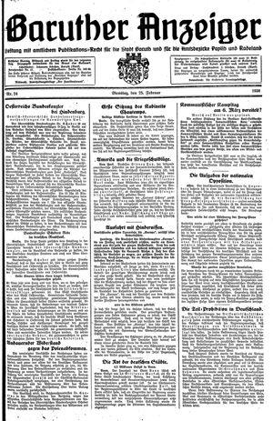 Baruther Anzeiger vom 25.02.1930