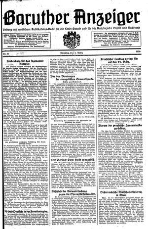 Baruther Anzeiger vom 04.03.1930