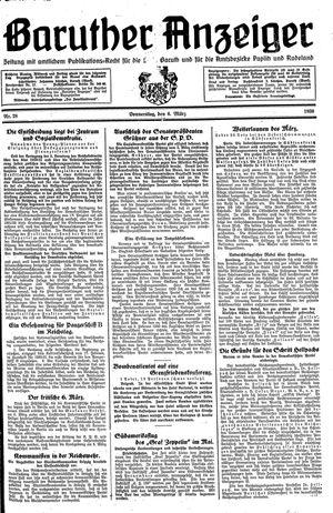 Baruther Anzeiger vom 06.03.1930