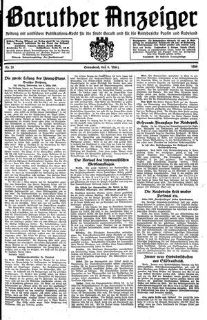 Baruther Anzeiger vom 08.03.1930