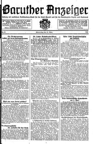 Baruther Anzeiger vom 13.03.1930