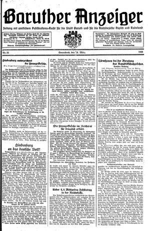 Baruther Anzeiger vom 15.03.1930