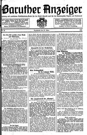 Baruther Anzeiger vom 22.03.1930