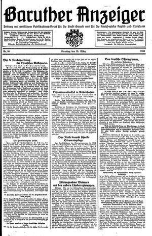 Baruther Anzeiger vom 25.03.1930