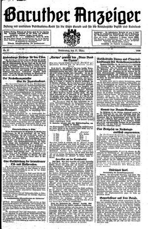 Baruther Anzeiger vom 27.03.1930