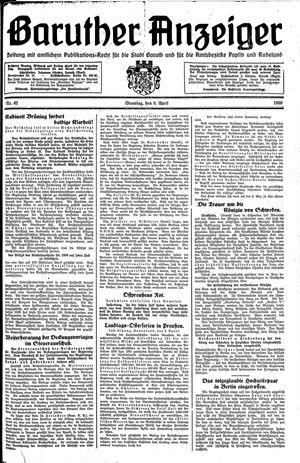 Baruther Anzeiger vom 08.04.1930
