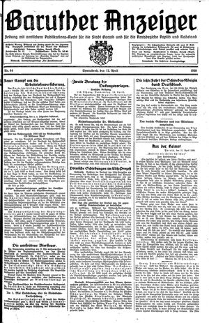 Baruther Anzeiger vom 12.04.1930