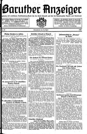 Baruther Anzeiger vom 26.04.1930