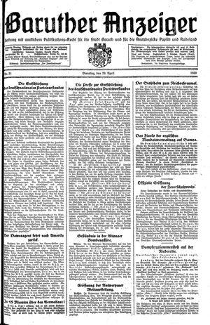 Baruther Anzeiger vom 29.04.1930