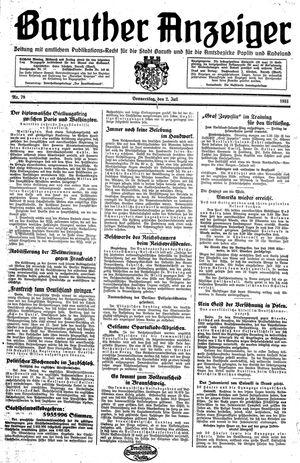 Baruther Anzeiger vom 02.07.1931