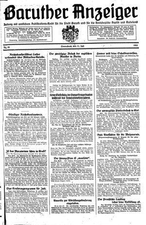 Baruther Anzeiger vom 11.07.1931