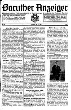 Baruther Anzeiger vom 14.07.1931