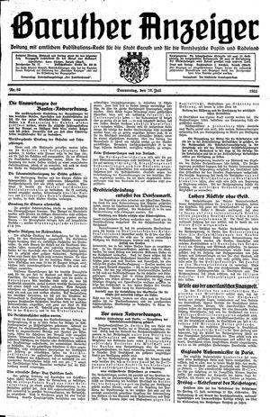 Baruther Anzeiger vom 16.07.1931