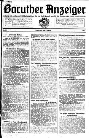 Baruther Anzeiger vom 06.08.1931