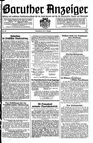 Baruther Anzeiger vom 08.08.1931