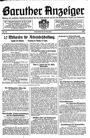 Baruther Anzeiger vom 24.12.1932