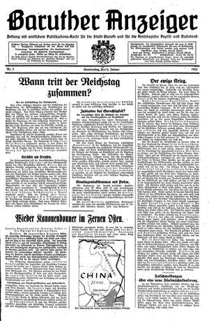 Baruther Anzeiger vom 05.01.1933
