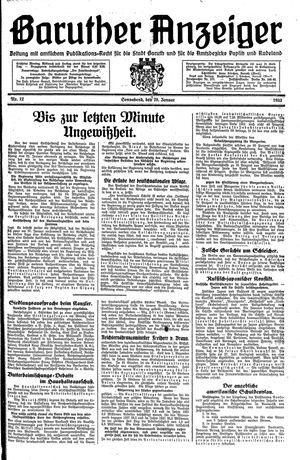 Baruther Anzeiger vom 28.01.1933