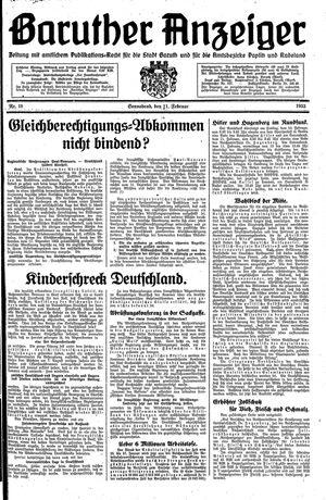 Baruther Anzeiger vom 11.02.1933