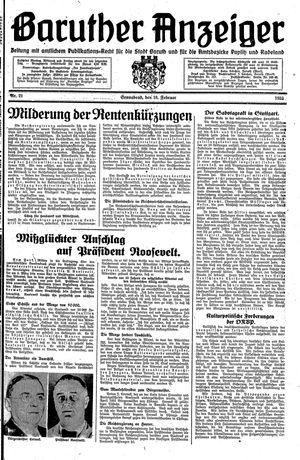 Baruther Anzeiger vom 18.02.1933