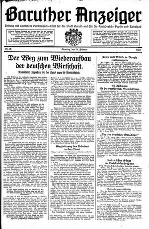 Baruther Anzeiger vom 28.02.1933