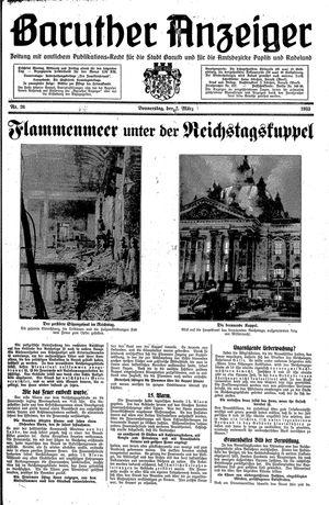 Baruther Anzeiger vom 02.03.1933