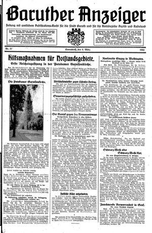 Baruther Anzeiger vom 04.03.1933