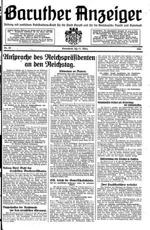 Baruther Anzeiger vom 11.03.1933