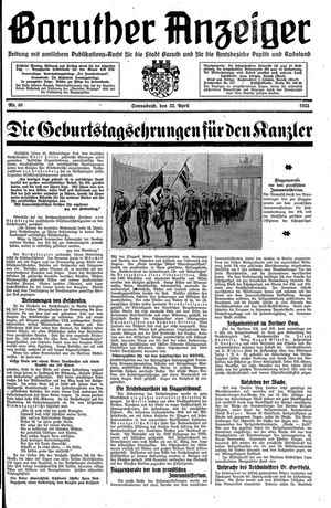 Baruther Anzeiger on Apr 22, 1933