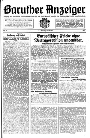 Baruther Anzeiger on May 9, 1933