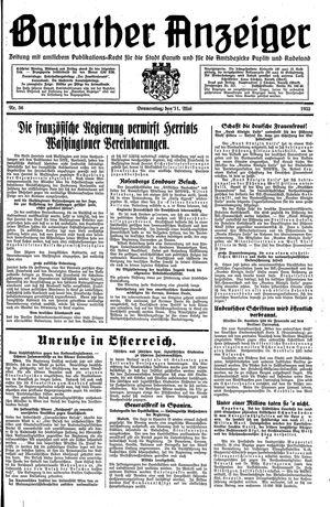 Baruther Anzeiger vom 11.05.1933