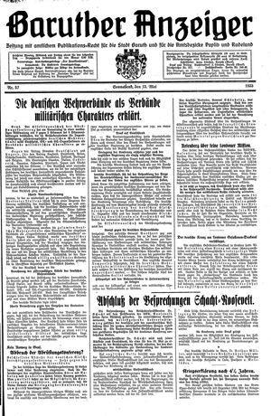 Baruther Anzeiger vom 13.05.1933