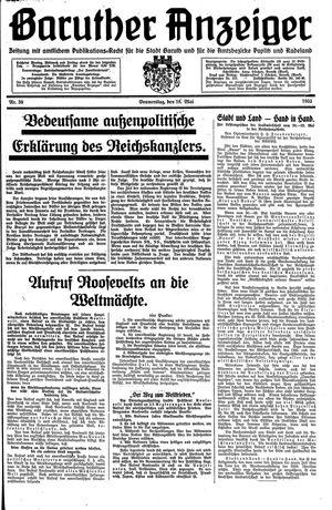 Baruther Anzeiger vom 18.05.1933