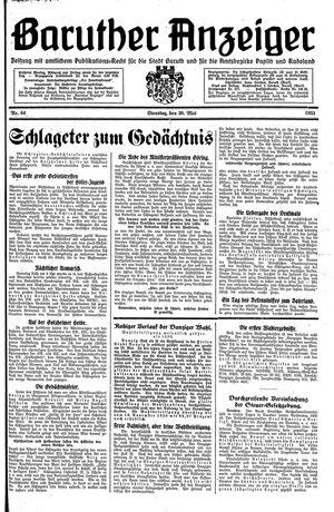 Baruther Anzeiger vom 30.05.1933