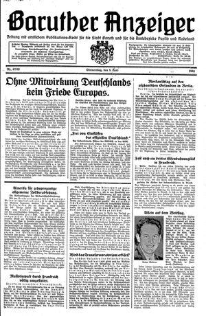 Baruther Anzeiger vom 08.06.1933