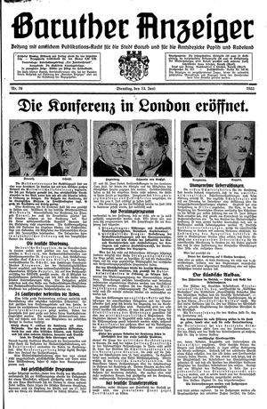 Baruther Anzeiger vom 13.06.1933