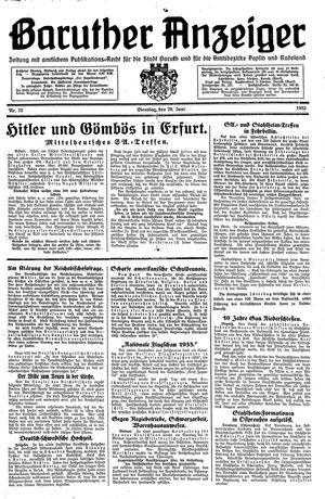 Baruther Anzeiger vom 20.06.1933