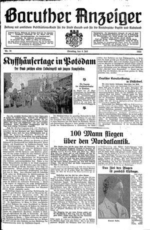 Baruther Anzeiger vom 04.07.1933