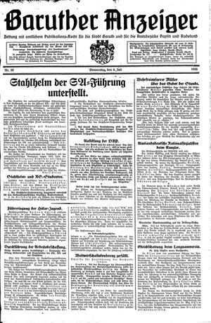 Baruther Anzeiger vom 06.07.1933