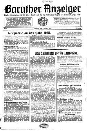 Baruther Anzeiger on Jan 1, 1935